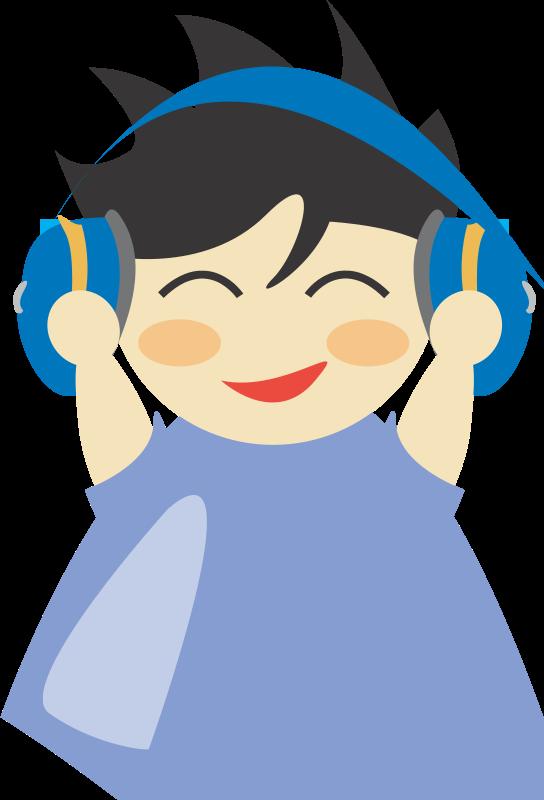 Free Boy with headphone5