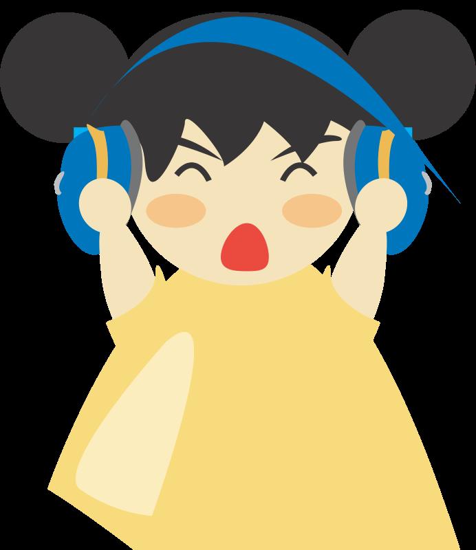 Free Girl with headphone5