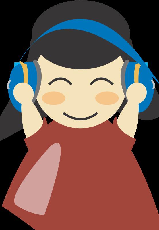 Free Girl with headphone4