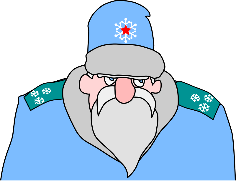 Free Colonel Frost - russian military Santa Claus