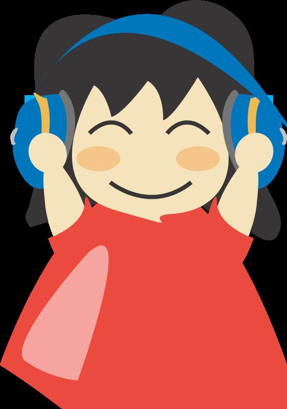 Free Girl with headphone3