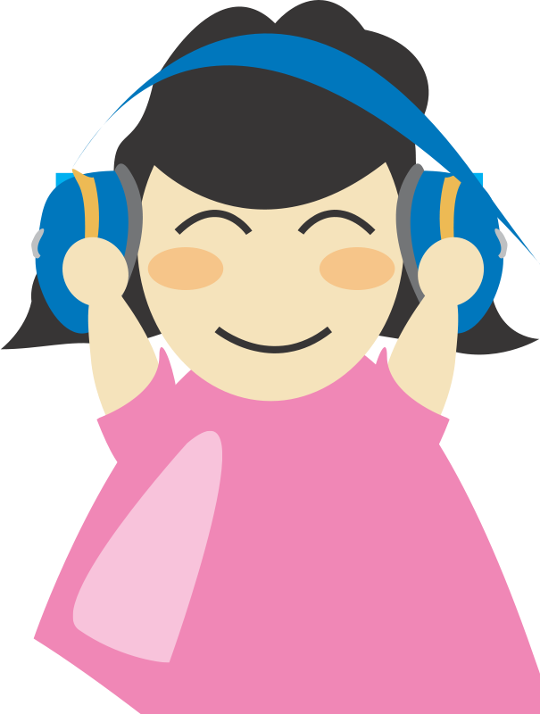 Free Girl with headphone2