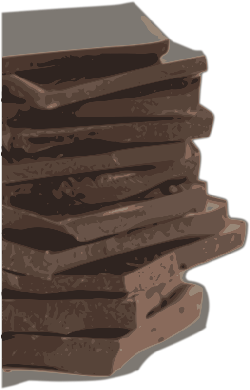 Free Chocolate Block Pieces (Tracing)