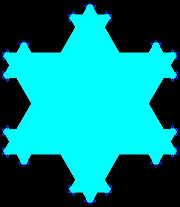 Free Koch flake fractal
