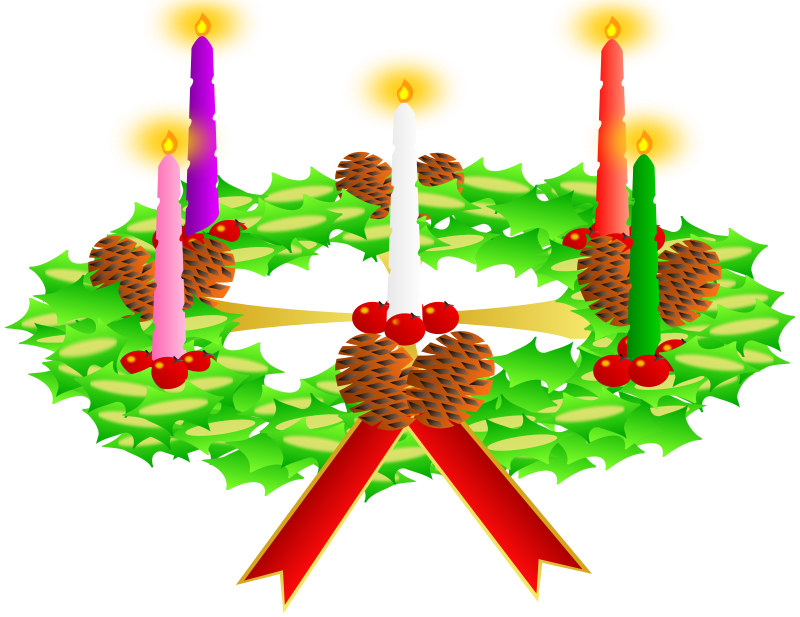 Free Advent wreath. Advent crown