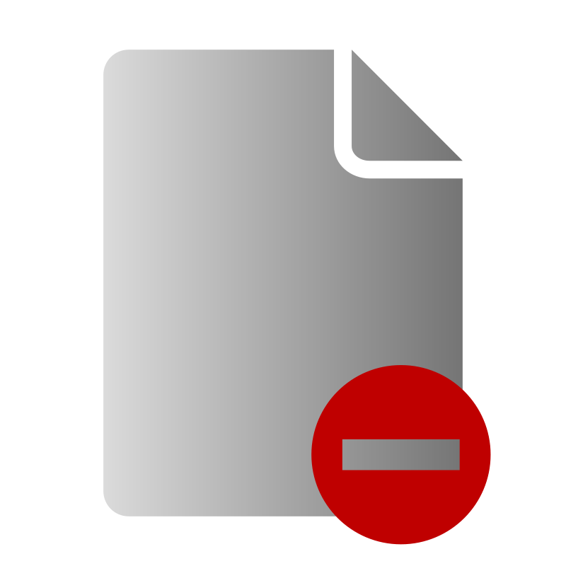 Free File Delete Icon