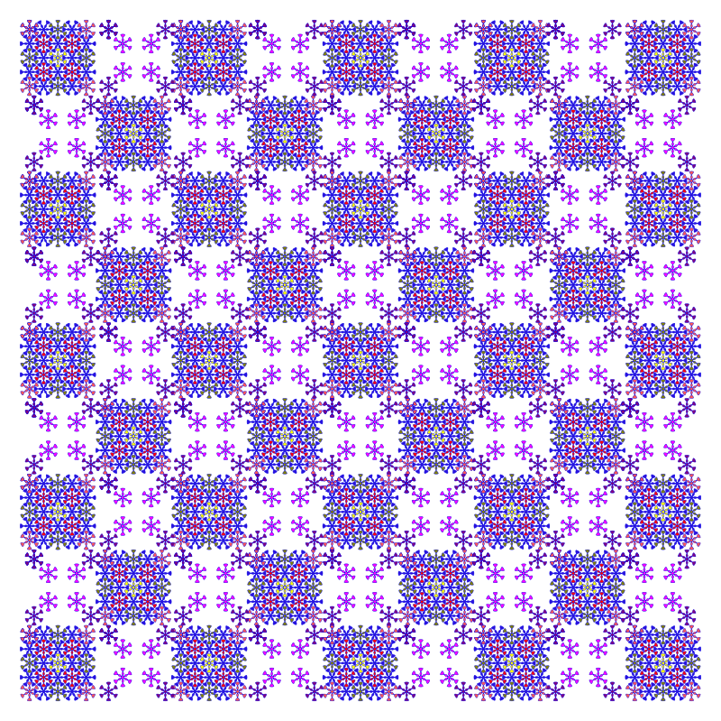 Free floral chess pattern