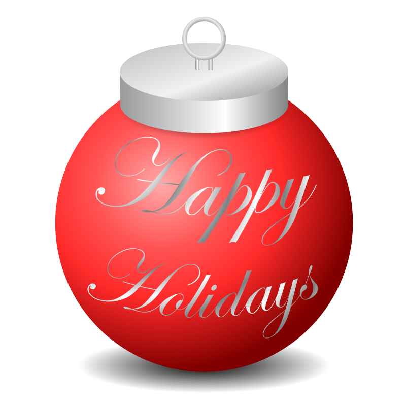 Free Clipart: Happy Holidays Ornament | jhnri4