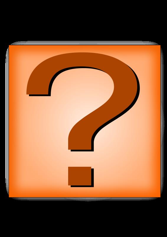 Free Question Mark Orange Button