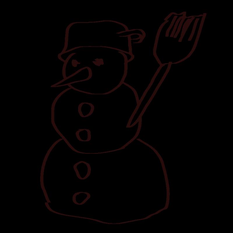 Free Snowman sketch
