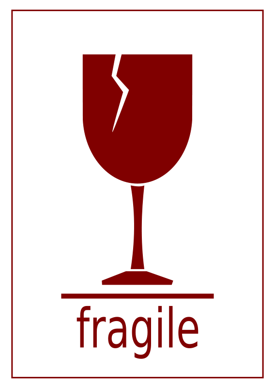 Free Fragile Label