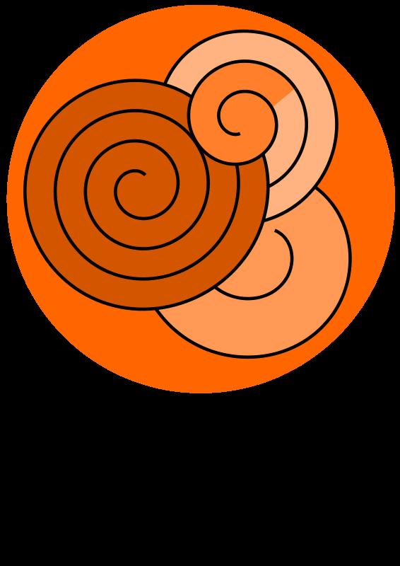 Free red spirals