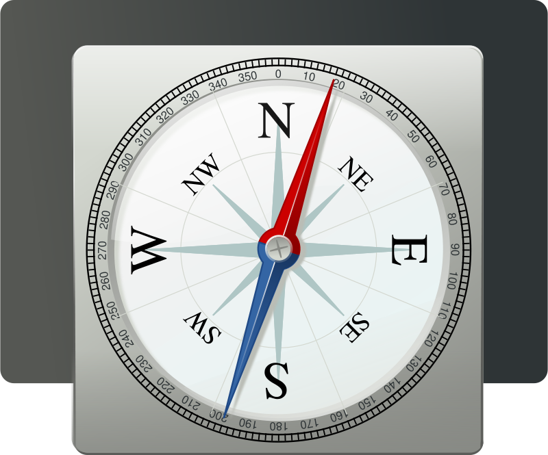 Free metallic compass