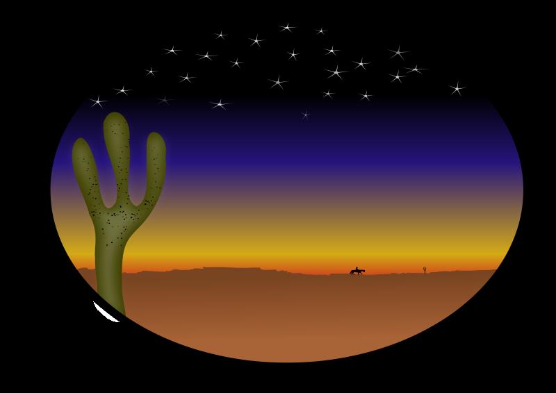 Free cowboy sunset