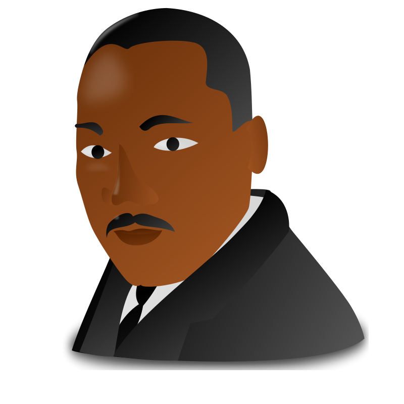 Free Clipart: Martin Luther King Jr. Day Icon | nicubunu