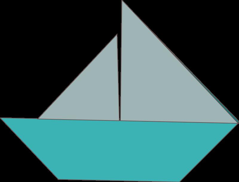Free Clipart Origami Sailboat