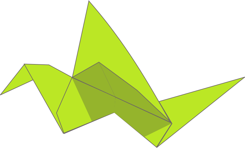 Free Origami flying bird