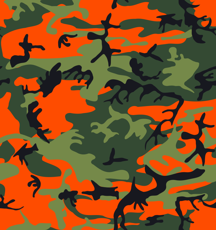 Free Camo Print - Hunter Orange