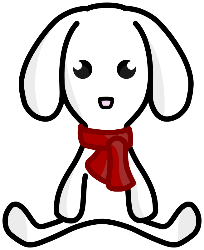 Free Clipart: Snow rabbit plush | Kib