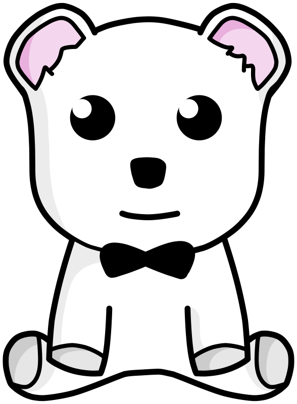 Free Clipart: Snow teddy bear | Kib
