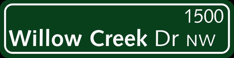 Free Green Street Sign
