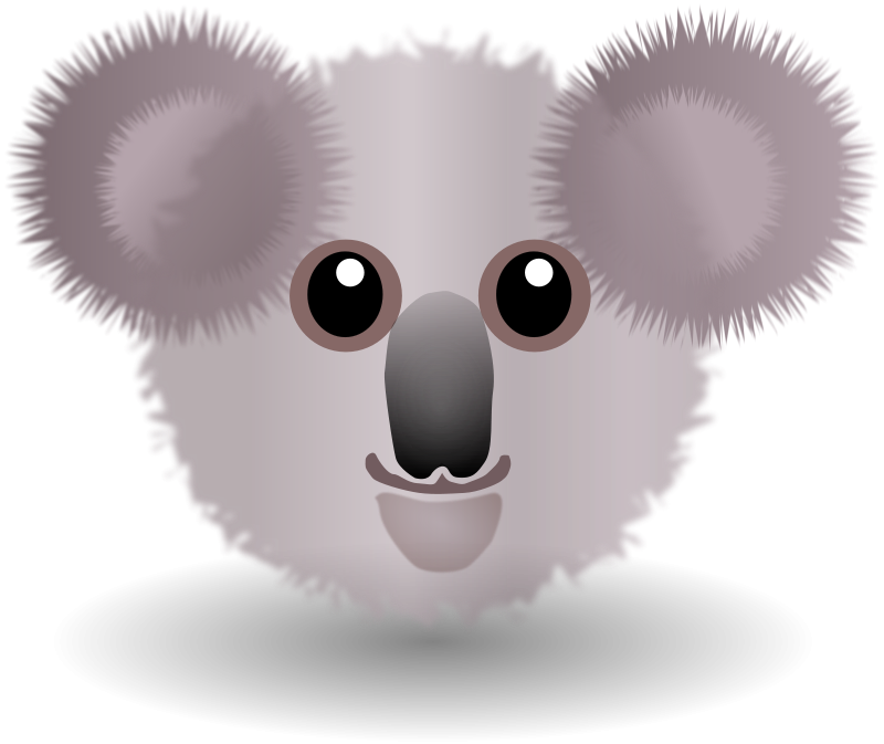 Free Clipart: Funny Koala Face Cartoon | palomaironique
