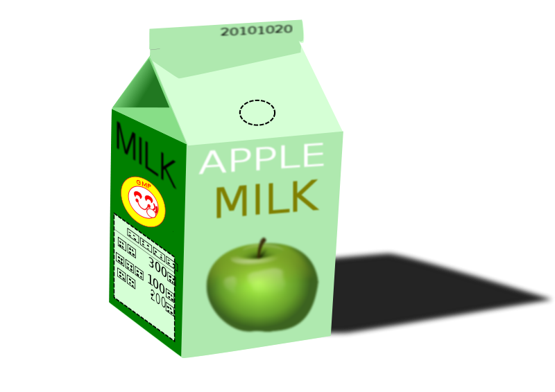 Free apple milk