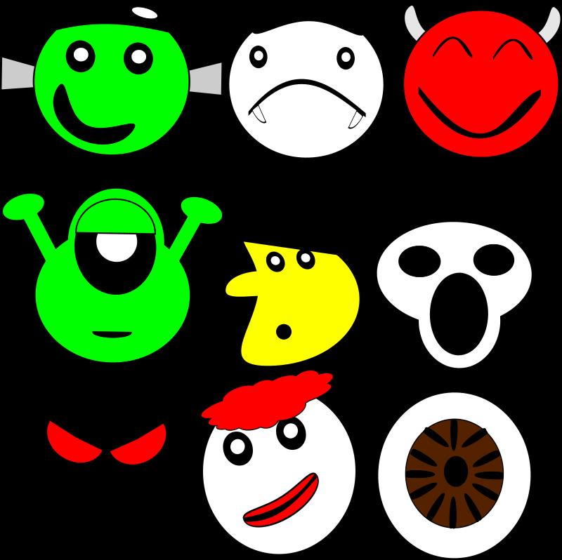 Free scarey faces