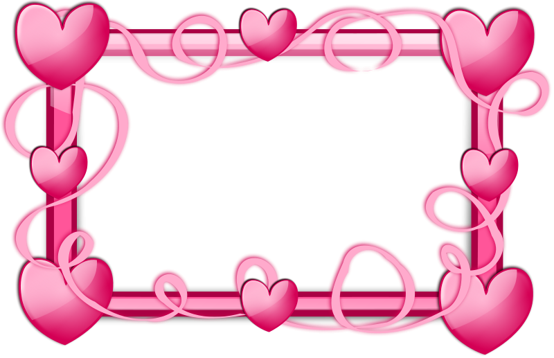 Free Pink Hearts Frame