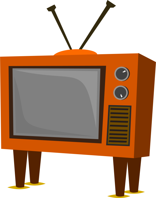 free clipart funky old tv stevepetmonkey rh 1001freedownloads com television clipart black and white television clipart png
