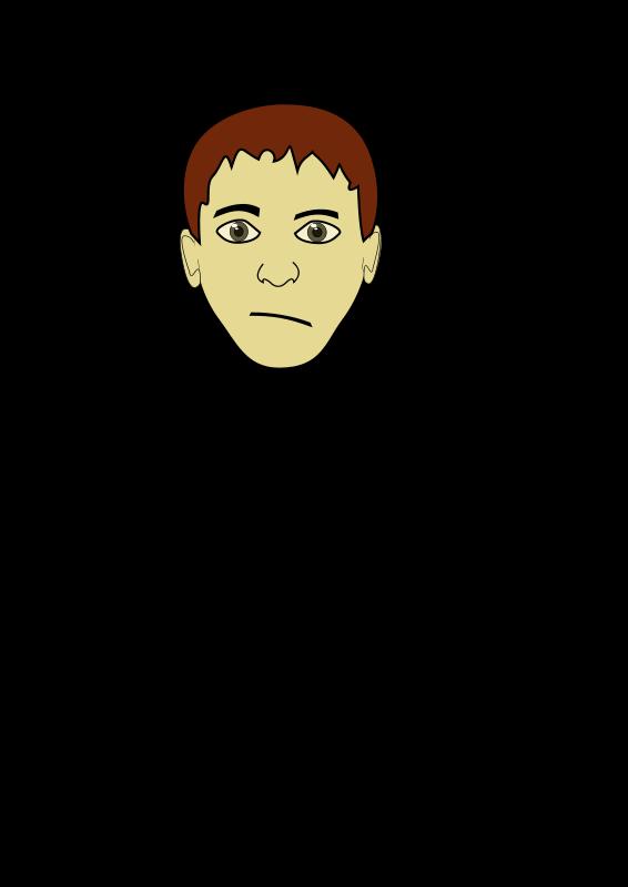 Free brown hair boy face mike 02
