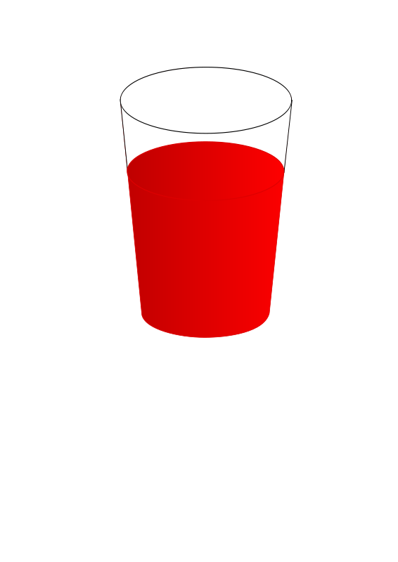 Free drinking glass with red punch 01
