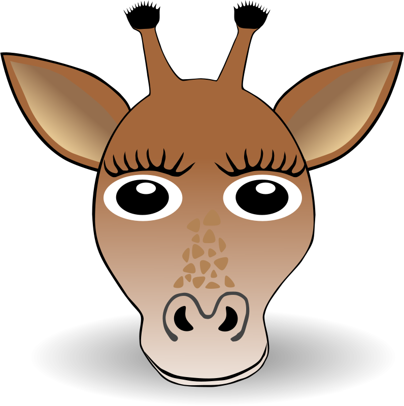 Free Funny Giraffe Face Cartoon