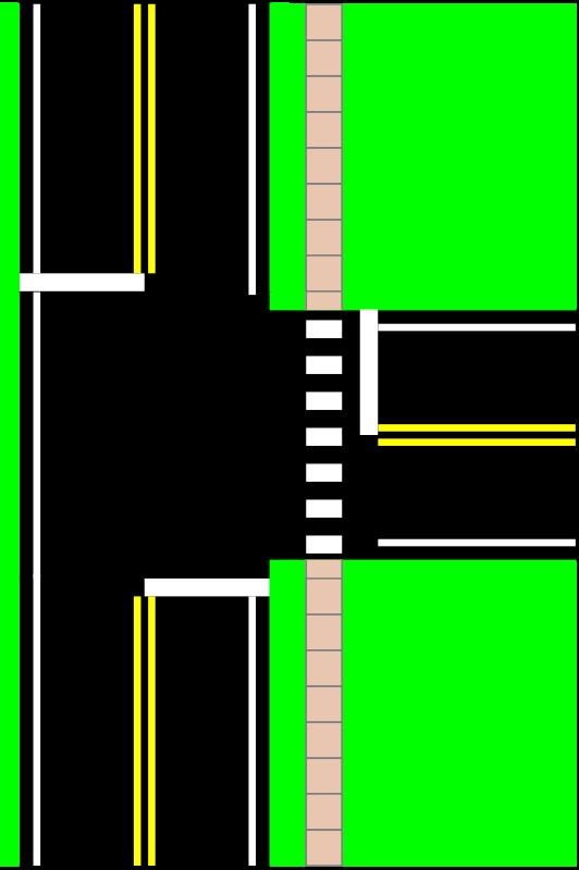 Free Three Way Intersection