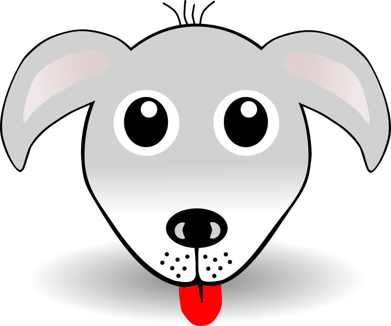 Free Funny Dog Face Grey Cartoon