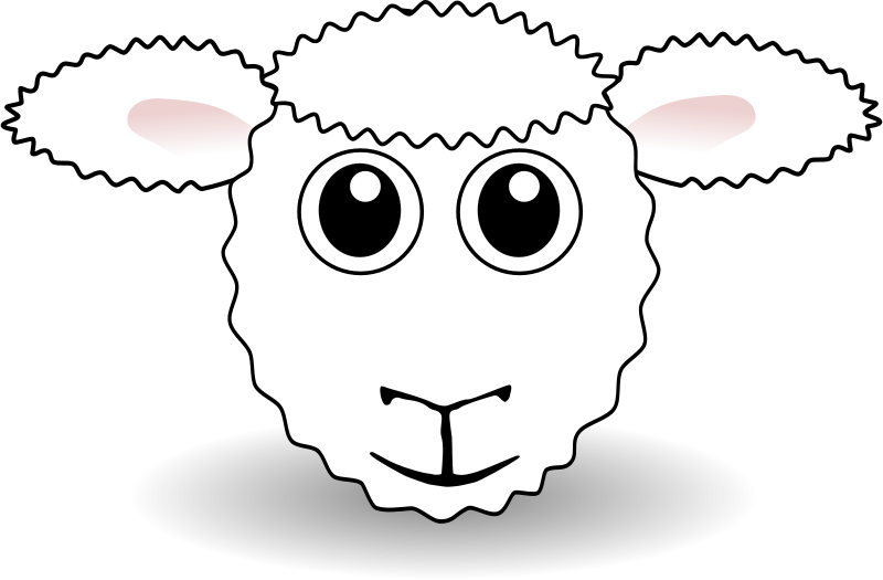Free Funny Sheep Face White Cartoon