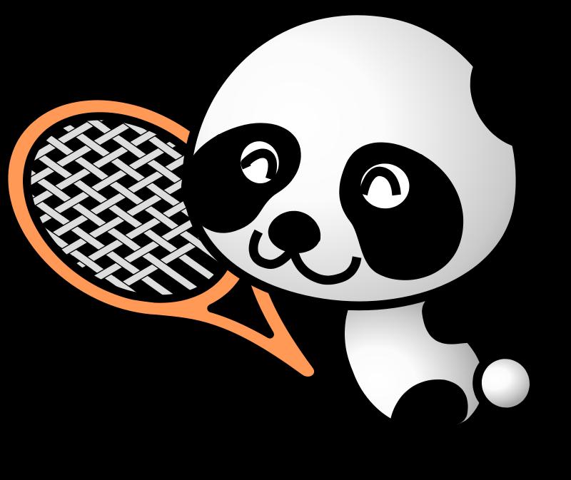 Free tennis panda