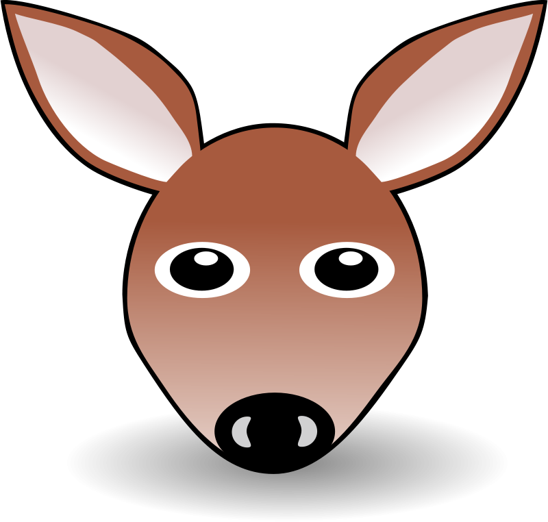 Free Clipart: Funny Fawn Face Brown Cartoon | palomaironique