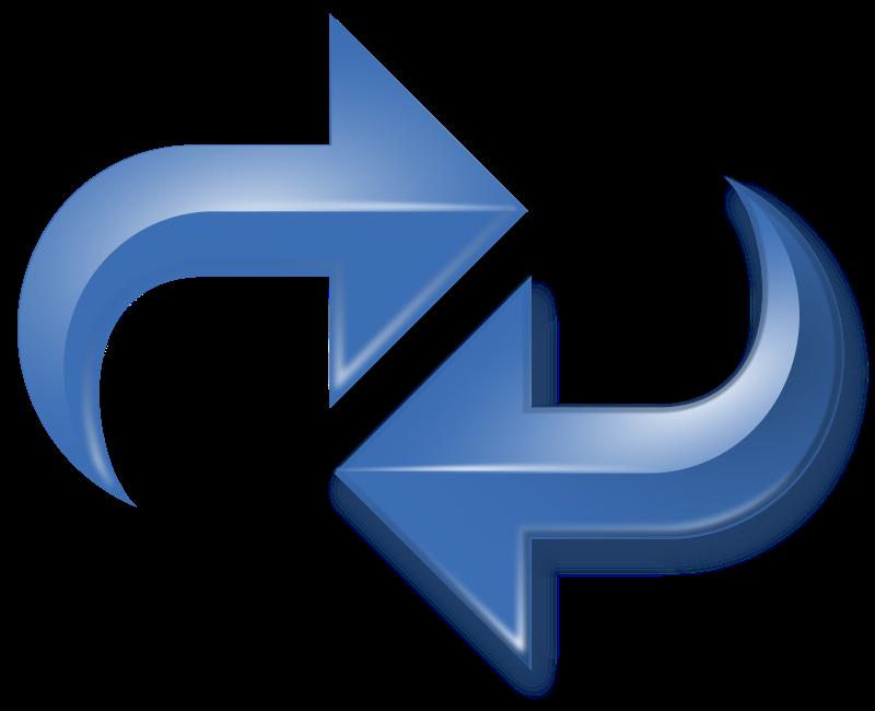 Free Arrows, Double Reversed, Blue