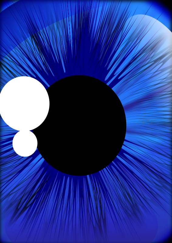 Free Deep Blue Eye (Inkscape 0.48)