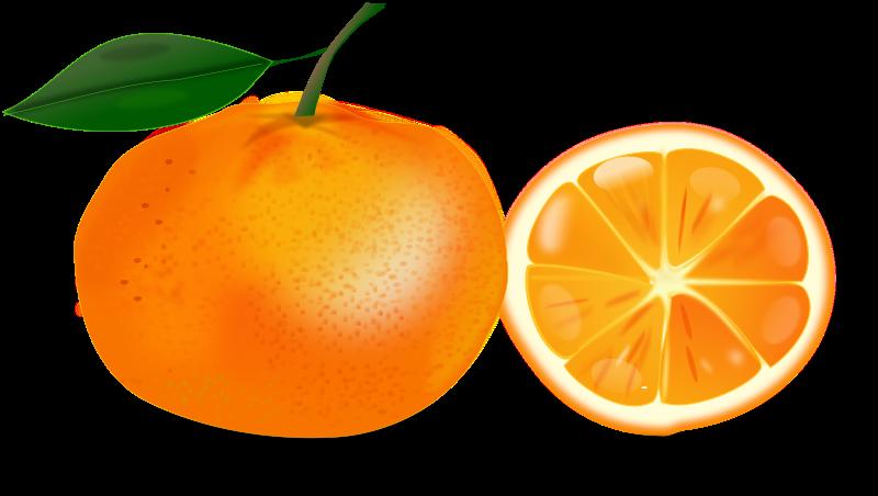 Free slice of an orange