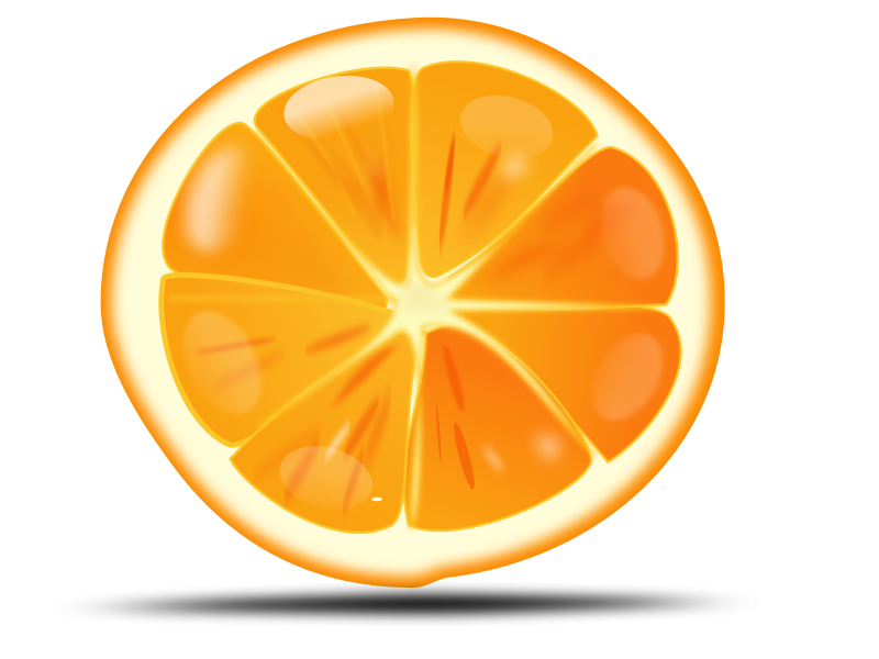 Free Clipart: Orange slice | netalloy