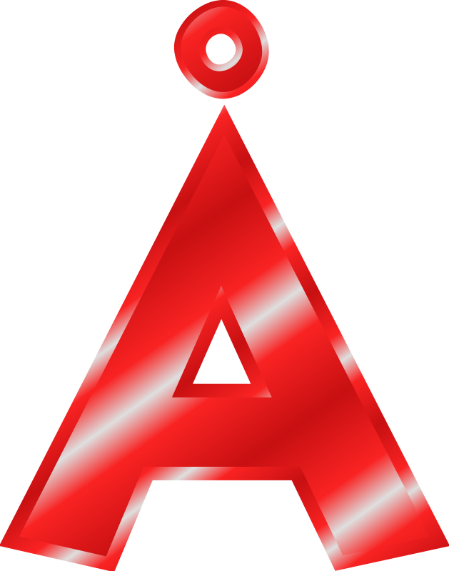 Free Effect Letters Alphabet red: Å
