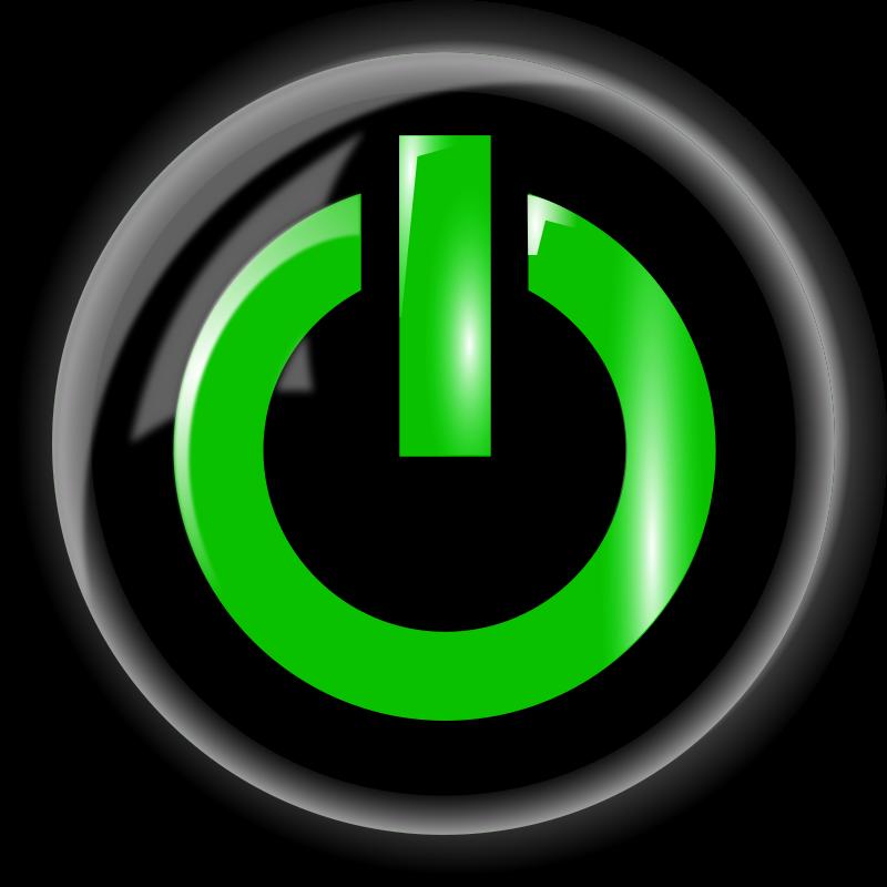 Free Power Button, Black