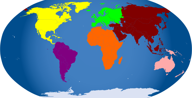 Free Continents colored