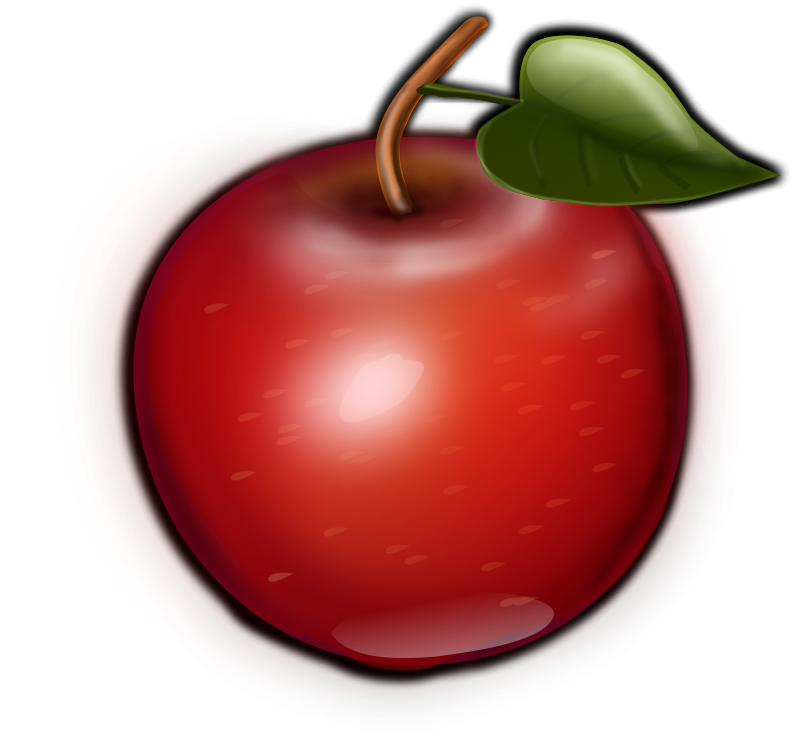 free clipart 1001freedownloads com Outline of Apple Shape apple outline clip art free