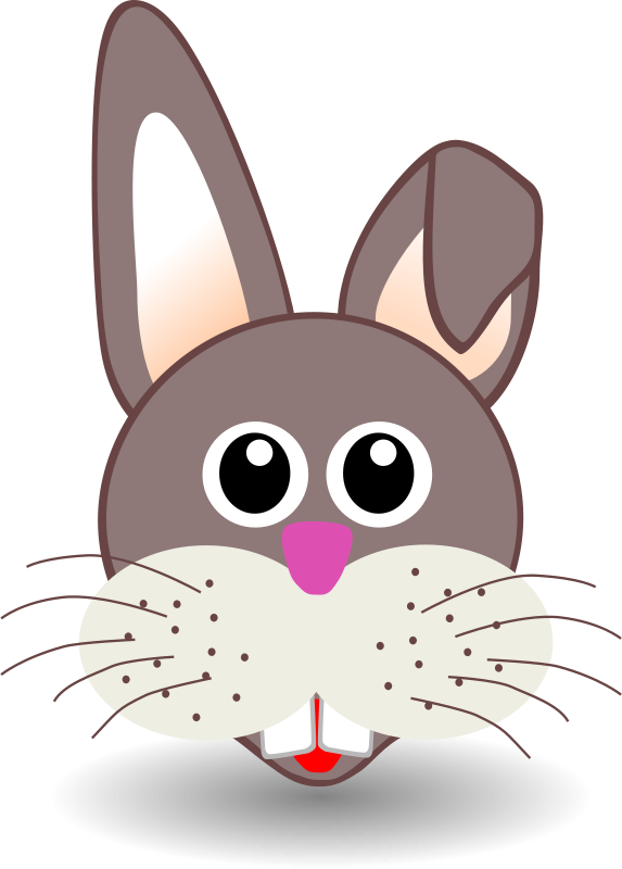 Free Clipart: Funny bunny face | palomaironique