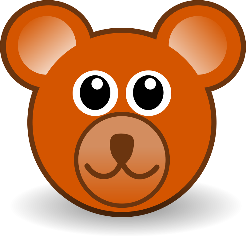 Free funny teddy bear face brown
