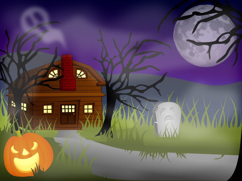 Free Halloween Haunted House Fog