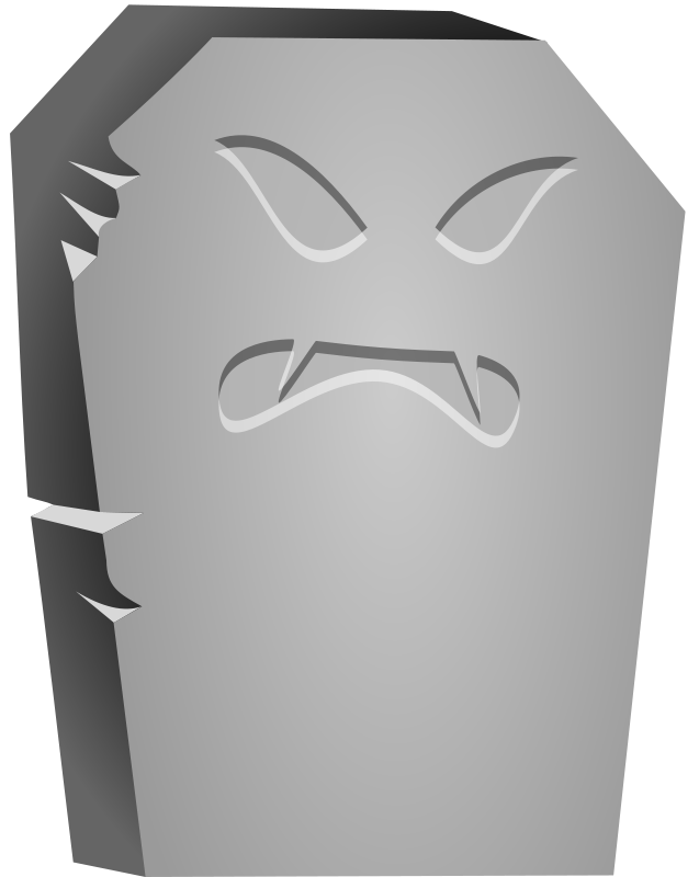Free Halloween Tombstone Angry Face
